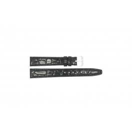 Horlogeband Condor 082R.01 Leder Zwart 12mm