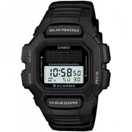 Horlogeband Casio HDD-S100 / W-S220 / 10395874 Rubber Zwart 16mm