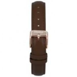 Horlogeband Prisma 1441 Leder Donkerbruin 14mm