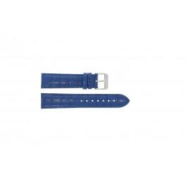 Horlogeband Universeel 285.05 Croco leder Blauw 24mm