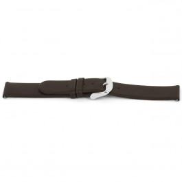 Horlogeband Universeel D300 Glad leder Bruin 14mm