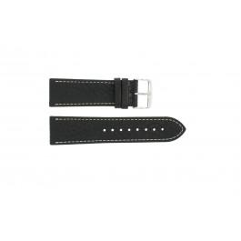 Horlogeband Condor 307R.01 Leder Zwart 24mm