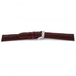 Horlogeband Universeel D340 Leder Bruin 14mm