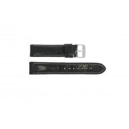Horlogeband Universeel 61324.10.20 Leder Zwart 20mm