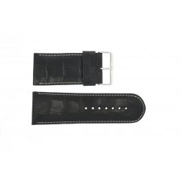 Horlogeband Universeel 61324.10.34 Leder Zwart 34mm