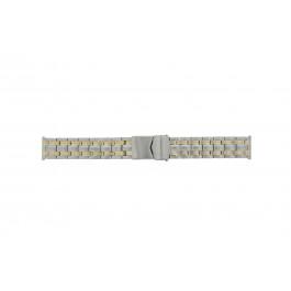 Horlogeband Universeel Bicolor 20mm Staal Bi-Color 20mm