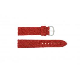 Horlogeband Davis B0231 Leder Rood 20mm