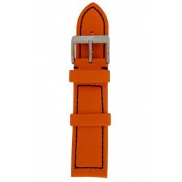 Horlogeband Davis BB1276 Leder Oranje 24mm