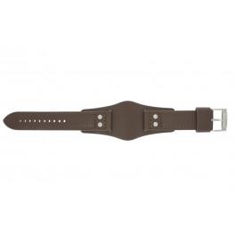 Horlogeband Fossil CH2565 Onderliggend Leder Bruin 22mm
