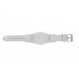 Horlogeband Fossil CH2592 Onderliggend Leder Wit 22mm