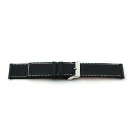 Horlogeband Universeel H110 Leder Zwart 22mm