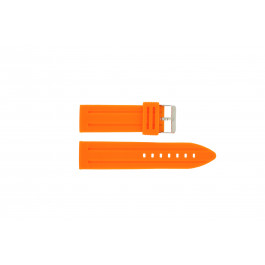 Horlogeband Universeel DS253.12.24 Silicoon Oranje 24mm