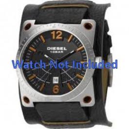 Horlogeband Diesel DZ1212 Onderliggend Leder Zwart 28mm