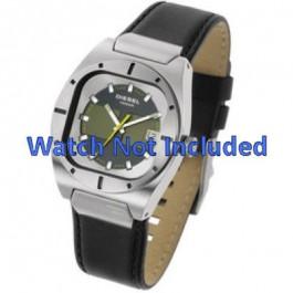 Horlogeband Diesel DZ4112 / DZ4113 Leder Zwart 20mm
