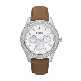 Horlogeband Fossil ES2996 Leder Bruin 18mm
