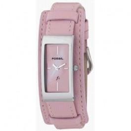 Horlogeband Fossil ES9859 Onderliggend Leder Roze 14mm