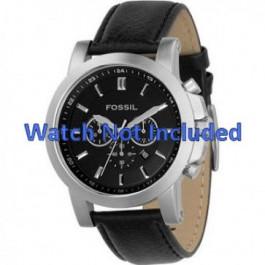 Horlogeband Fossil FS4247 Leder Zwart 22mm