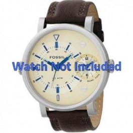 Horlogeband Fossil FS4338 Leder Bruin 24mm