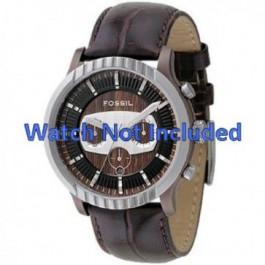 Horlogeband Fossil FS4441 Leder Bruin 27mm