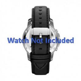 Horlogeband Fossil FS4647 Leder Zwart 22mm