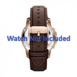 Horlogeband Fossil FS4648 Leder Bruin 22mm