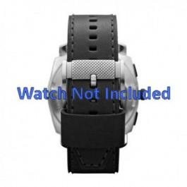 Horlogeband Fossil FS4731 Leder Zwart 24mm
