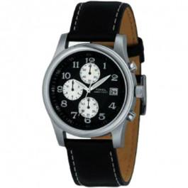 Horlogeband Fossil FS2898 Leder Zwart 22mm