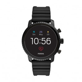 Fossil FTW4018 Q Explorist HR GEN 4 Digital Smartwatch Heren Zwart