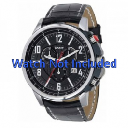 Horlogeband DKNY NY1325 Leder Zwart 22mm