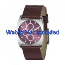Horlogeband DKNY NY3426 Leder Bordeaux 24mm