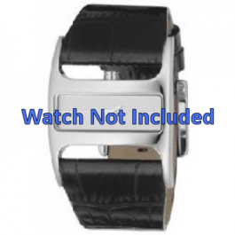 Horlogeband DKNY NY4179 Leder Zwart 29mm