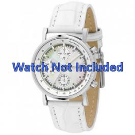DKNY horlogeband NY4528 Leder Wit 18mm + standaard stiksel