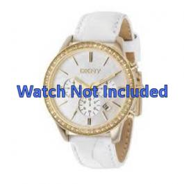 Horlogeband DKNY NY4844 Leder Wit 20mm