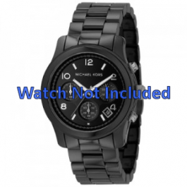 Michael Kors horlogeband MK5162 Keramiek Zwart 22mm