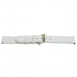 Horlogeband Universeel H500 Leder Wit 22mm