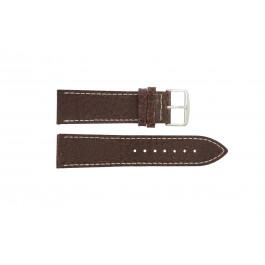 Horlogeband Universeel I320 Leder Bruin 24mm