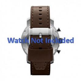 Horlogeband Fossil JR1390 Leder Bruin 24mm