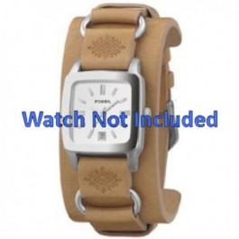 Horlogeband Fossil JR8300 Leder Bruin 16mm
