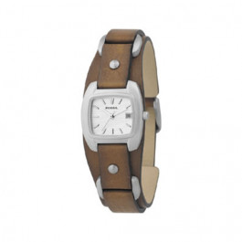 Horlogeband Fossil JR8897 Leder Bruin 12mm