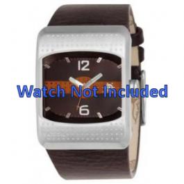 Horlogeband Fossil JR9389 Leder Bruin 16mm