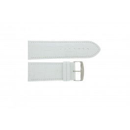 Horlogeband Universeel 305R.09 Leder Wit 30mm