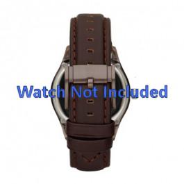 Horlogeband Fossil ME1123 Leder Donkerbruin 22mm