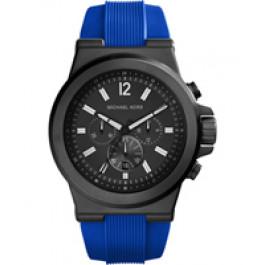 Horlogeband Michael Kors MK8357 Silicoon Blauw 28mm
