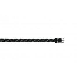 Horlogeband Universeel PRLN.10.Z Onderliggend Nylon/perlon Zwart 10mm