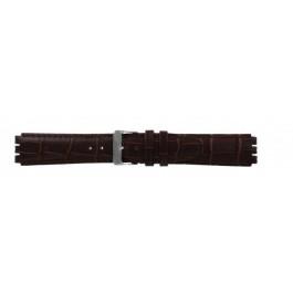Horlogeband Swatch (alt.) 21414.27 Leder Bruin 17mm