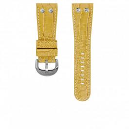 TW Steel horlogeband TWB75 Leder Beige 30mm + wit stiksel