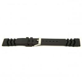 Horlogeband Universeel XG11 Kunststof/Plastic Zwart 20mm