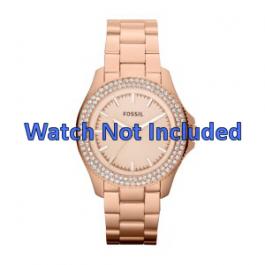 Horlogeband Fossil AM4454 Staal Rosé 18mm