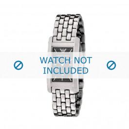 Armani horlogeband AR-0113 Staal Zilver 19mm