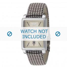 Armani horlogeband AR-0135 Textiel Bruin 20mm